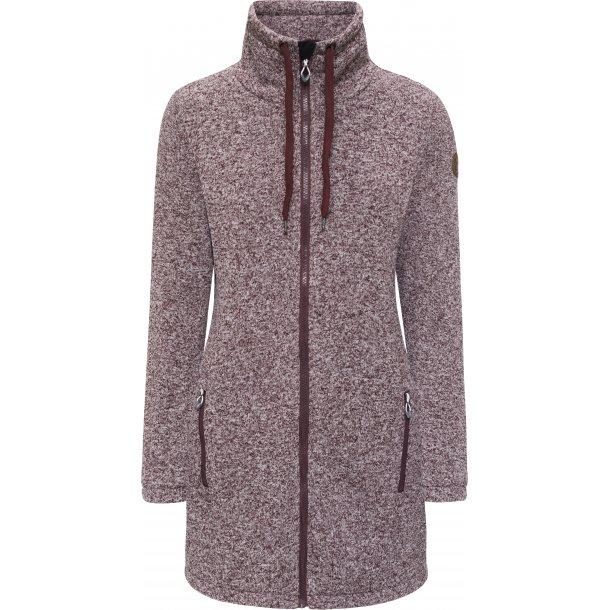 Weather Report  3/4 lang fleece jakke med vindstopper